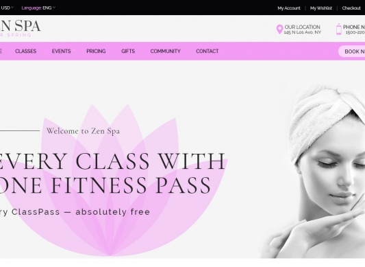 Download Zen Spa | Wellness, Spa Massage Template