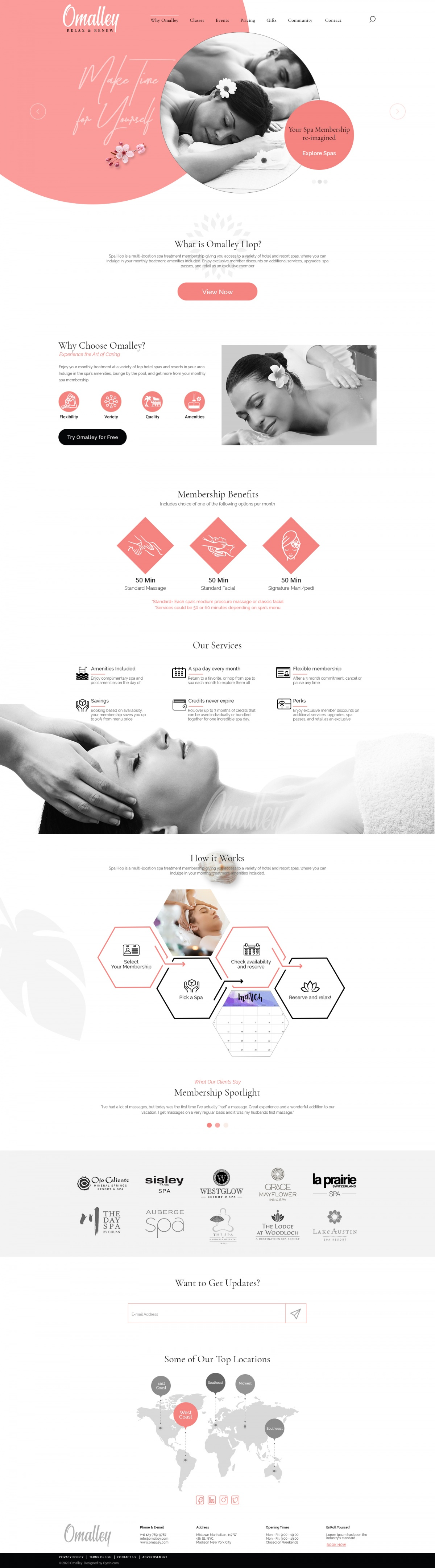Omalley Spa | Beauty, Wellness Template