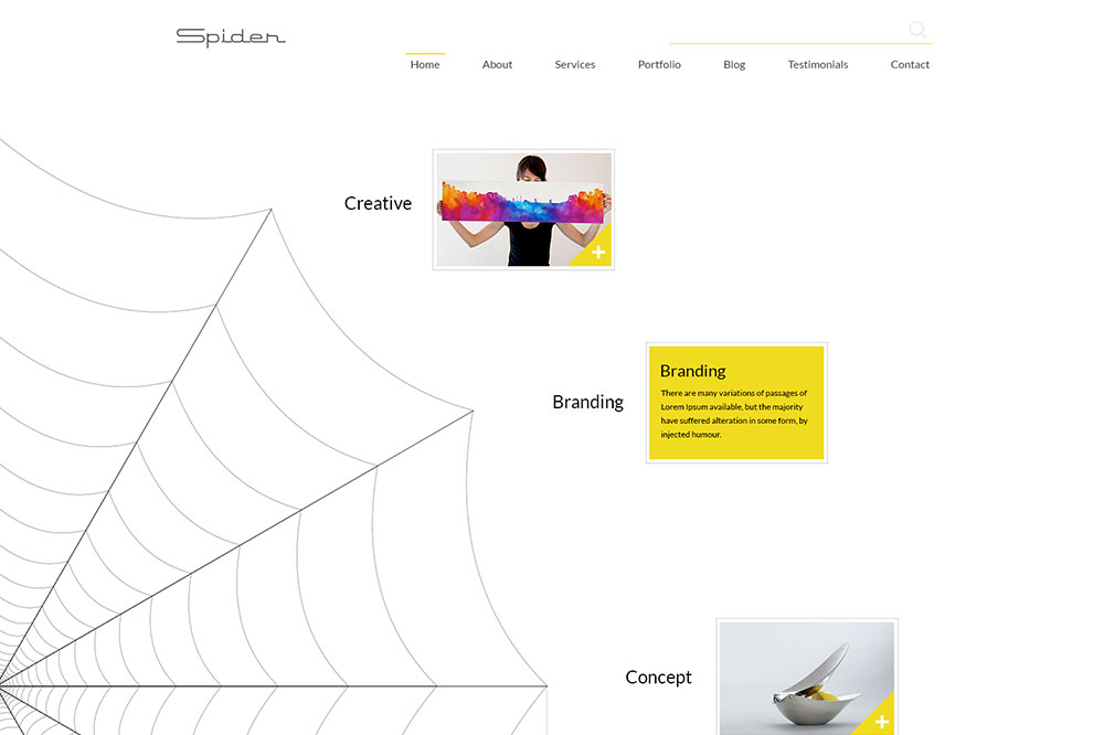 Download Spider Multipurpose Portfolio Template2