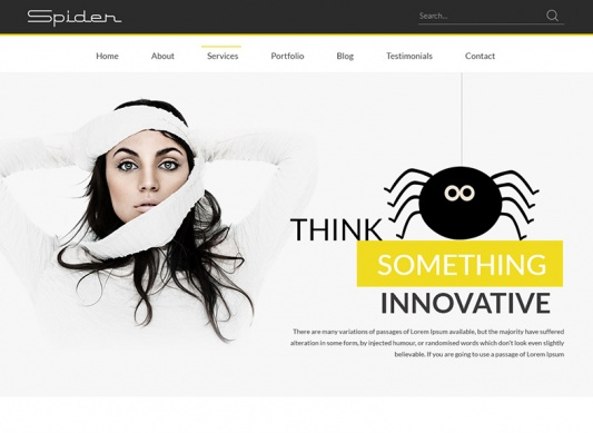Download Spider Multipurpose Portfolio Template