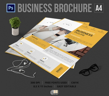 Corporate Company Flyer Psd Template